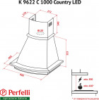 Вытяжка PERFELLI K 9622 C IV 1000 COUNTRY LED - изображение 11