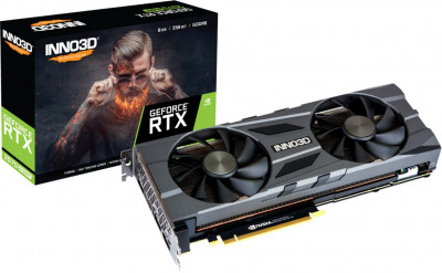 INNO3D PCI-Ex GeForce RTX 2070 Super Twin X2 OC 8GB GDDR6 (256bit) (1785/14000) (HDMI, 3 x DisplayPort) (N207S2-08D6X-11801167)
