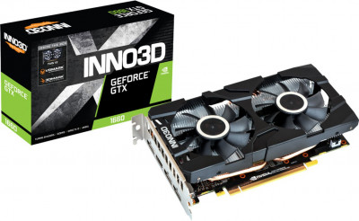 INNO3D PCI-Ex GeForce GTX 1660 Twin X2 6GB GDDR5 (192bit) (1785/8000) (HDMI, 3 x DisplayPort) (N16602-06D5-1521VA15)