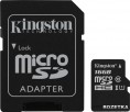 Kingston MicroSDHC/MicroSDXC 16GB Class 10 UHS-I + SD адаптер (SDC10G2/16GB)
