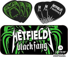 Медиаторы Dunlop PH112T.73 Hetfield's Black Fang Pick Tin 0.73 (6 шт.)