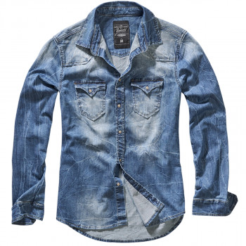 Сорочка Brandit Riley Denim BLUE S Синій (4020.62)