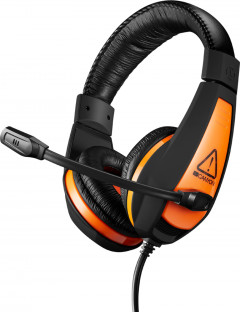 Игровые наушники Canyon Star Raider Black/Orange (CND-SGHS1)