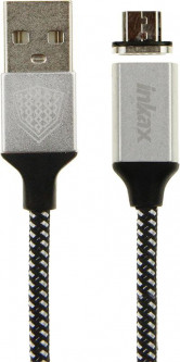Кабель INKAX CK-50 magnetic Micro cable 1m Black