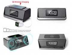 Акустическая док-станция iHome IBN350G, Qi Wireless Charging, BT, NFC, USB, Aux Mic (IBN350V2G)