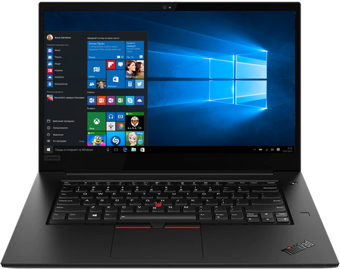 Ноутбук Lenovo ThinkPad X1 Extreme (2nd Gen) (20QV0010RT)