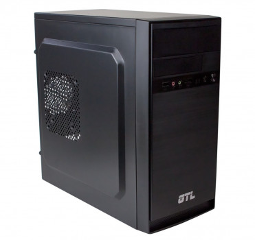 #177216 - Корпус GTL 1603 Black, 400W, 120mm, Micro ATX / Mini ITX, 2 x 3.5 mm, USB2.0 x 2, ODD x 1, HDD x 3, SSD x 1, 0.4 mm, 350x315x165, 3.3 kg