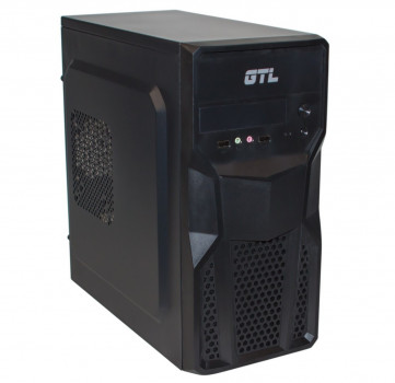 #177215 - Корпус GTL 1602 Black, 400W, 120mm, Micro ATX / Mini ITX, 2 x 3.5 mm, USB2.0 x 2, ODD x 1, HDD x 3, SSD x 1, 0.4 mm, 350x315x165, 3.3 kg