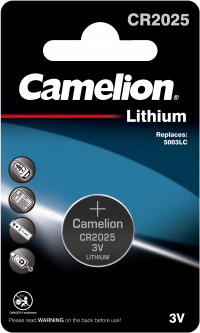 Батарейка Camelion Lithium Button CR2025 1 шт (CR2025-BP1)