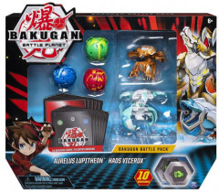 Большой набор Spin Master Bakugan Battle planet из 5 бакуганов Люпитреон и Вайсрокс (SM64425-5) (778988550090)