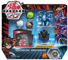 Большой набор Spin Master Bakugan Battle planet из 5 бакуганов Нобилиус и Кракелиус (SM64425-6) (778988550090)