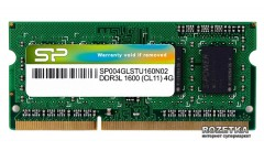 Оперативная память Silicon Power SODIMM DDR3L-1600 4096MB PC-12800 (SP004GLSTU160N02)