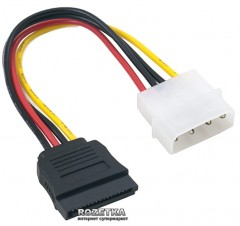Кабель ExtraDigital Serial ATA Power Cable, 18 AWG, 0.16 м (KBP1660)