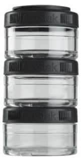 Контейнер спортивный BlenderBottle GoStak 3 x 60 мл Черный (GS_3*60_Black)