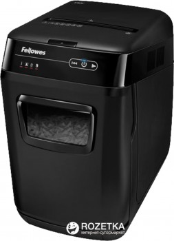 Шредер Fellowes AutoMax 130C 130 аркушів 4х51 мм 31 л (ff.U4680101) +