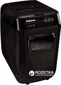 Шредер Fellowes AutoMax 200C 200 аркушів 4х38 мм 32 л (ff.U4653601)