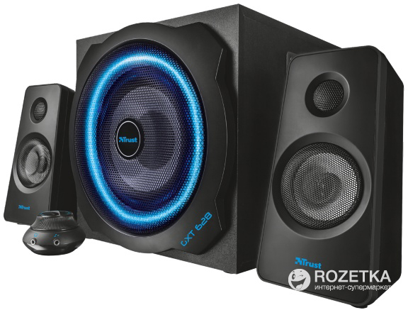 Акустическая система Trust GXT 628 2.1 Illuminated Speaker Set Limited Edition Black (TR20562)