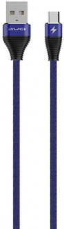Кабель Awei CL-29 Type-C Cable 2 м Blue (FSH101124)