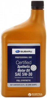 Моторное масло Subaru Synthetic Motor Oil 5W-30 0.946 л (SOA427V1410)