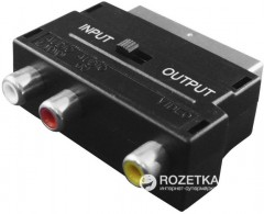 Переходник Value SCART Male - 3 RCA Female (S0560)