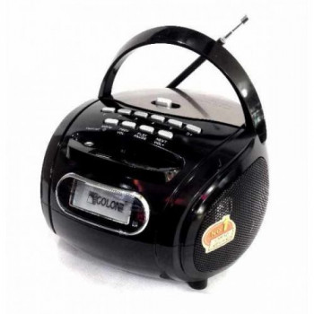 Радио бумбокс колонка караоке MP3 USB Golon RX 186 Black