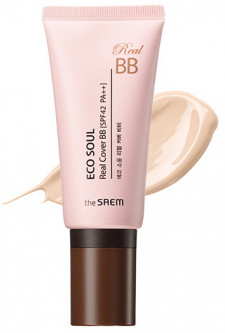 ВВ крем для лица The Saem Eco Soul Real Cover BB 21 Light Beige 45 г (8806164147177)