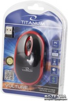 Миша Esperanza Titanum TM116R Wireless Black/Red - зображення 3