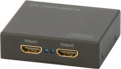Сплиттер Digitus HDMI (INx1 - OUTx2), 4K Black (DS-46304)