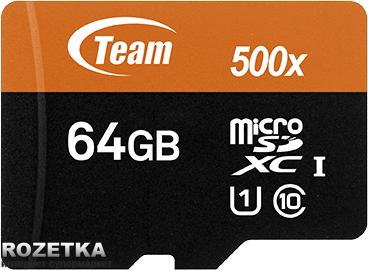 Team MicroSDXC UHS-1 64GB + SD-adapter(TUSDX64GUHS03)