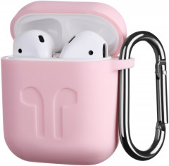 Чехол 2Е для Apple AirPods Pure Color Silicone Imprint 1.5 мм Light Pink (2E-AIR-PODS-IBSI-1.5-LPK)