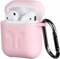 Чехол 2Е для Apple AirPods Pure Color Silicone Imprint 3.0 мм Light Pink (2E-AIR-PODS-IBPCSI-3-LPK)