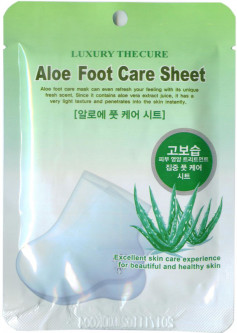 Маска для ног Luxury The Cure Co-Arang Aloe Foot Care Sheet с экстрактом алоэ 16 г (8809295014967)