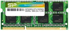 Оперативная память Silicon Power SODIMM DDR3L-1600 8192MB PC3-12800 (SP008GLSTU160N02)