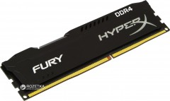 Оперативная память Kingston DDR4-2400 4096MB PC4-19200 HyperX Fury Black (HX424C15FB/4)