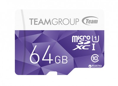 Team Color Card MicroSDXC 64GB Class 10 UHS + SD Adapter (TCUSDX64GUHS41)