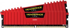 Оперативная память Corsair DDR4-2400 16384MB PC4-19200 (Kit of 2x8192) Vengeance LPX (CMK16GX4M2A2400C16R) Red