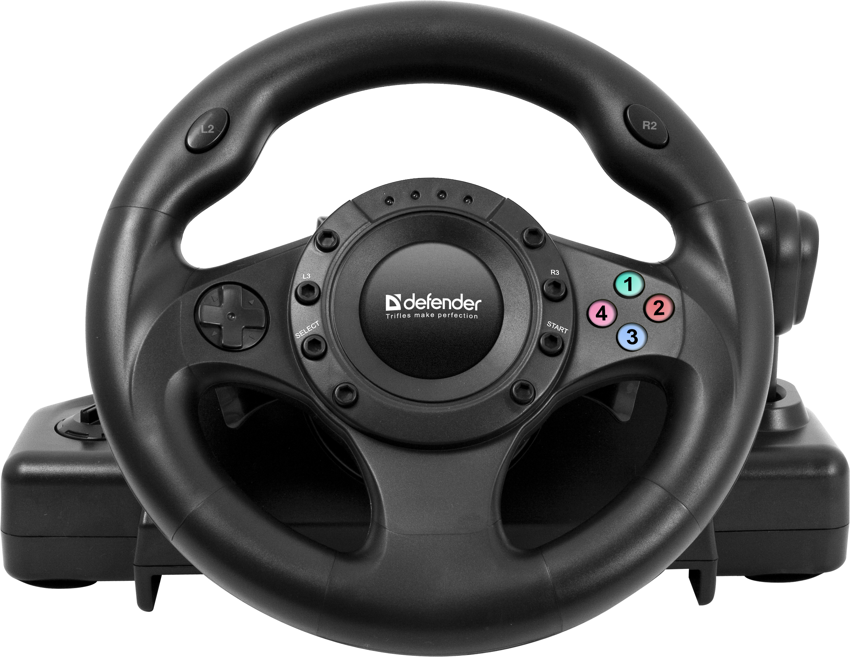 Проводной руль Defender Forsage Drift GT USB/PS3 Black