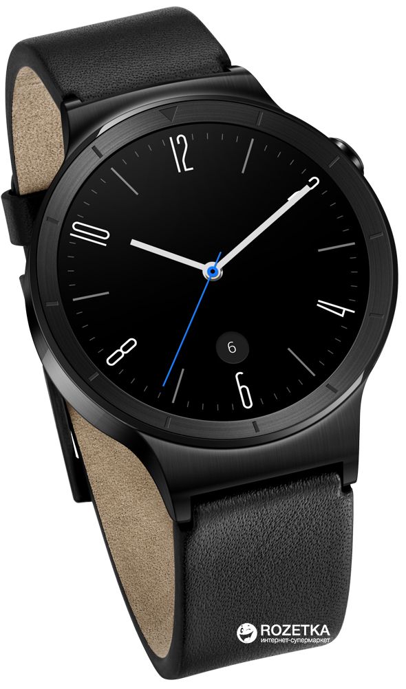 1b5f93a5 Huawei Watch (Black Stainless Steel with Flat Black Leather Strap)