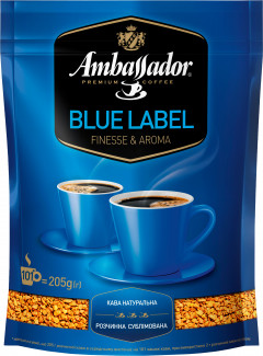 Кофе растворимый Ambassador Blue Label 205 г (8719325127508)
