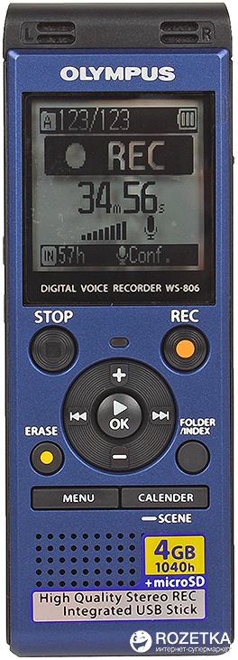 WS-806 4GB Blue + ME51 Stereo Microphone