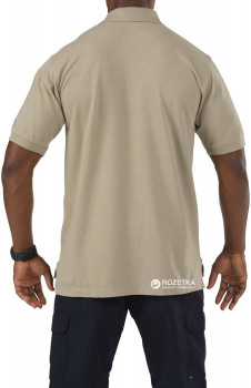 Футболка-поло тактична 5.11 Tactical Professional Polo - Short Sleeve 41060 Silver Tan