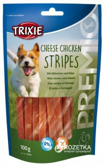 Лакомство для собак Trixie 31586 Premio Chicken Cheese Stripes сыр/курица 100 г (4011905315867)
