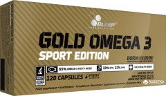 Жирные кислоты Olimp Gold Omega 3 Sport Edition 120 капсул (5901330030581)