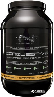 Протеин Nanox Conquest V6 High Grade Protein Isolate 900 г Карамель (CQCR10001)