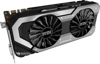 Palit PCI-Ex GeForce GTX 1070 Super Jetstream 8GB GDDR5 (256bit) (1632/8000) (DVI, HDMI, 3 x DisplayPort) (NE51070S15P2-1041J)