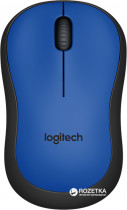 Миша Logitech M220 Silent Wireless Black/Blue (910-004879) - зображення 1