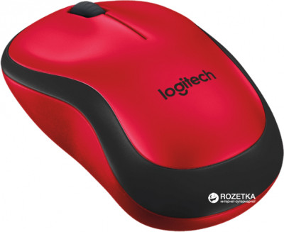 Мышь Logitech M220 Silent Wireless Black/Red (910-004880)