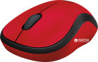 Мышь Logitech M220 Silent Wireless Black/Red (910-004880) - изображение 3