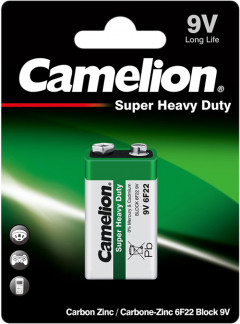 Батарейка Camelion 6F22 / Shrink Green (6F22-SP1G)