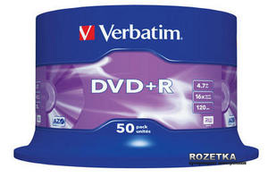 DVD+R 4,7 GB 16x Cake Box 50 шт